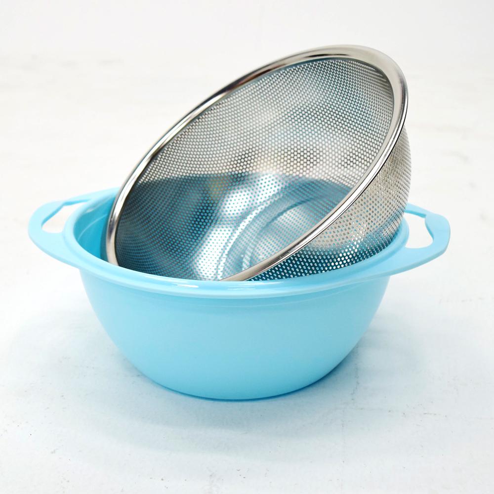 雙層不鏽鋼瀝水籃+盛水盆-(快)