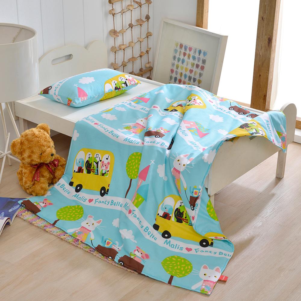 義大利Fancy Belle X Malis 一起郊遊趣 兒童純棉防蹣抗菌兩用被枕頭2件組 @ Y!購物