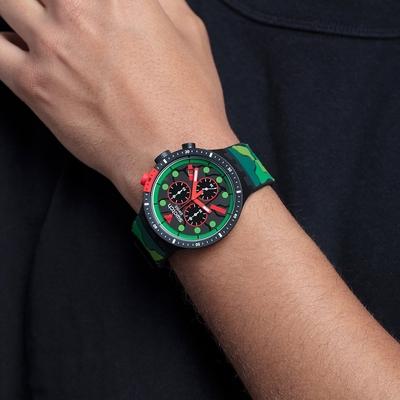 SWATCH  BIG BOLD系列手錶ESCAPEJUNGLE叢林冒險-47mm