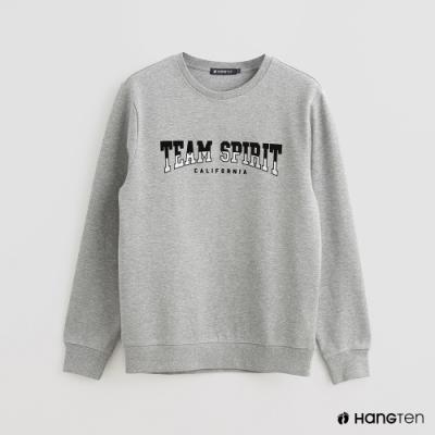 Hang Ten - 男裝 - 簡約文字印花長袖上衣 - 灰