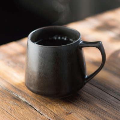 Cores KIKI美濃燒馬克杯|瓷製可微波 (黑) C810BK