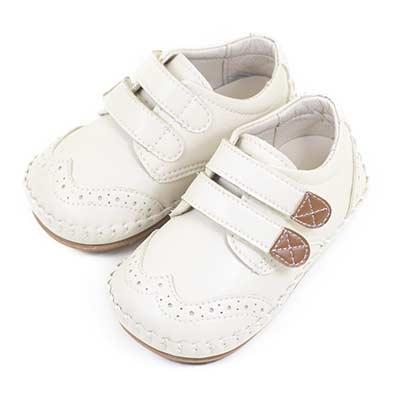 Swan天鵝童鞋-紳士風格牛津雕花男童學步鞋 1579-米