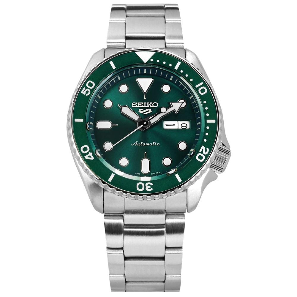 SEIKO 精工 5 Sports 機械錶 自動上鍊 不鏽鋼手錶 湖水綠色 41mm