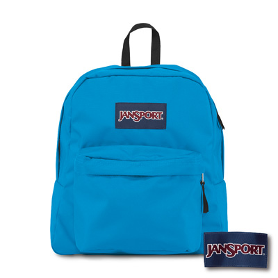 JanSport -SPRING BREAK系列後背包 -土耳其藍