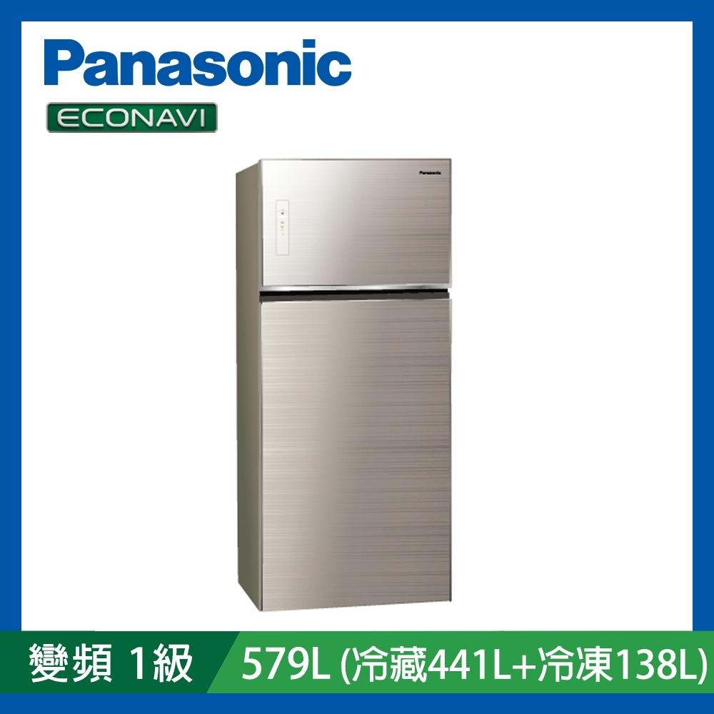 [館長推薦] Panasonic國際牌579公升 1級變頻2門電冰箱 NR-B589TG-N 翡翠金