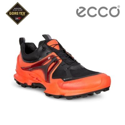 ECCO BIOM C-TRAIL M 縱橫越野健步運動鞋 男-橘紅/黑