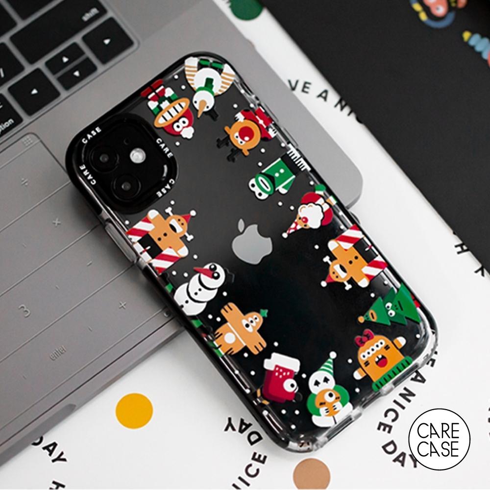 CARECASE 小怪獸系列 iPhone 7 Plus / 8 Plus 手機保護殼 聖誕圍圈款