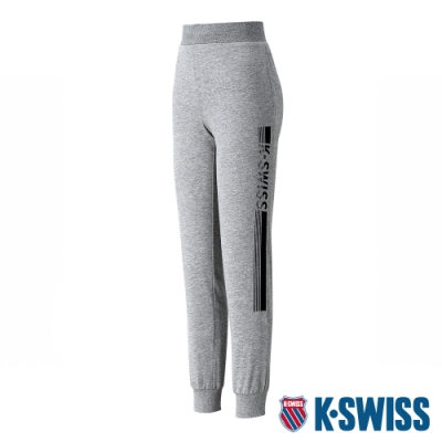 K-SWISS KS Waist Band Sweat Pants棉質運動長褲-女-灰