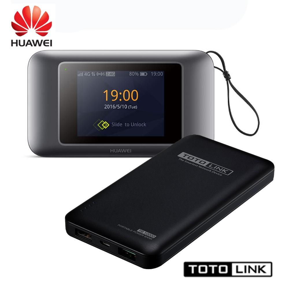 HUAWEI E5787 4G分享器 + TOTO LINK TB10000 行動電源 _ 行動分享便利充