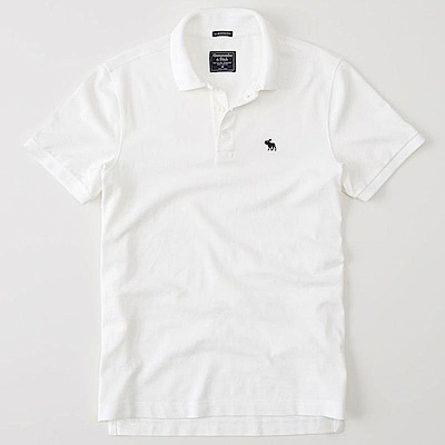 AF a&f Abercrombie & Fitch POLO 白色 0906