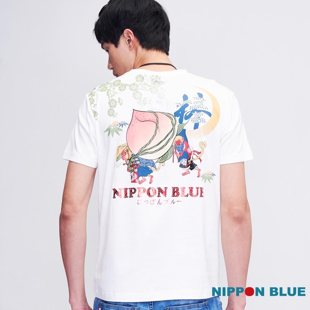 日本藍  BLUE WAY  - 申猴偷桃短TEE