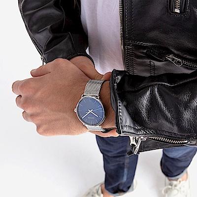 CALVIN KLEIN highnoon 巔峰系列三針手錶-藍/40mm