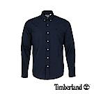 Timberland 男款深藍色彈力府綢長袖襯衫 A1LSN