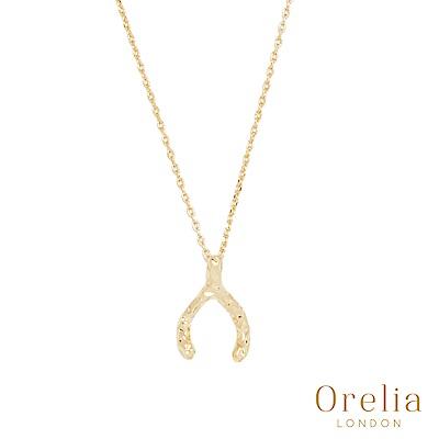 Orelia英國倫敦簡約抓皺幸運骨鍍金手鍊