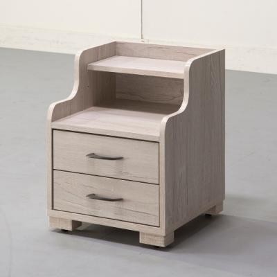 直人木業-COUNTRY日式鄉村風 40公分雙層床頭櫃