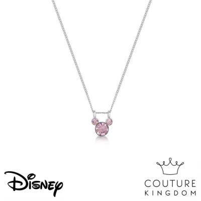 Disney Jewellery by Couture Kingdom 經典米奇粉紫水晶項鍊