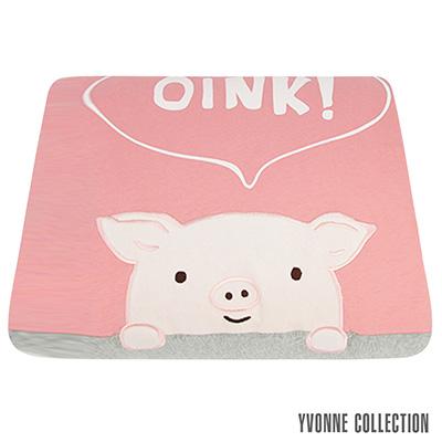 YVONNE COLLECTION 哈囉豬單人四季被(5x7呎)- 粉橘紅