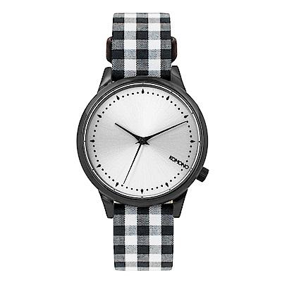 KOMONO Estelle Vichy 腕錶-黑色瑪莉格紋/36mm