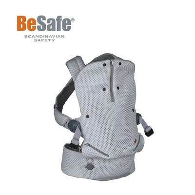BeSafe Haven輕量秒充氣墊腰凳式嬰幼兒揹帶- 3D冰稜灰