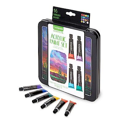 美國Crayola 繪兒樂 壓克力顏料彩繪精裝組16色(9Y+)