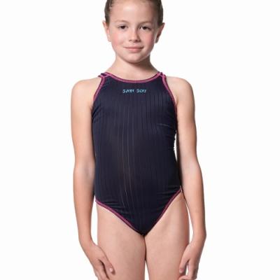 聖手牌 泳裝 深藍專業競賽型女童泳裝