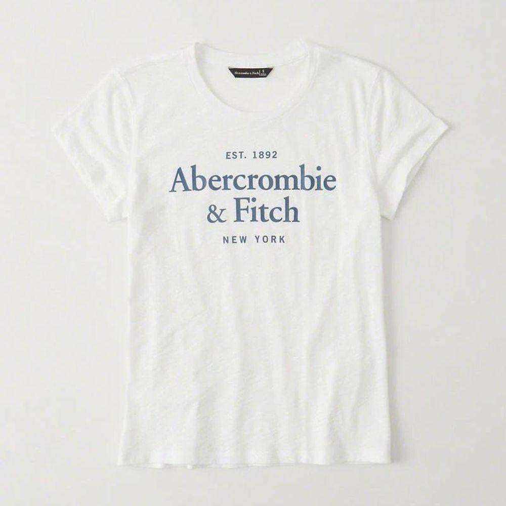 AF a&f Abercrombie & Fitch 女 短袖 T恤 白 0820