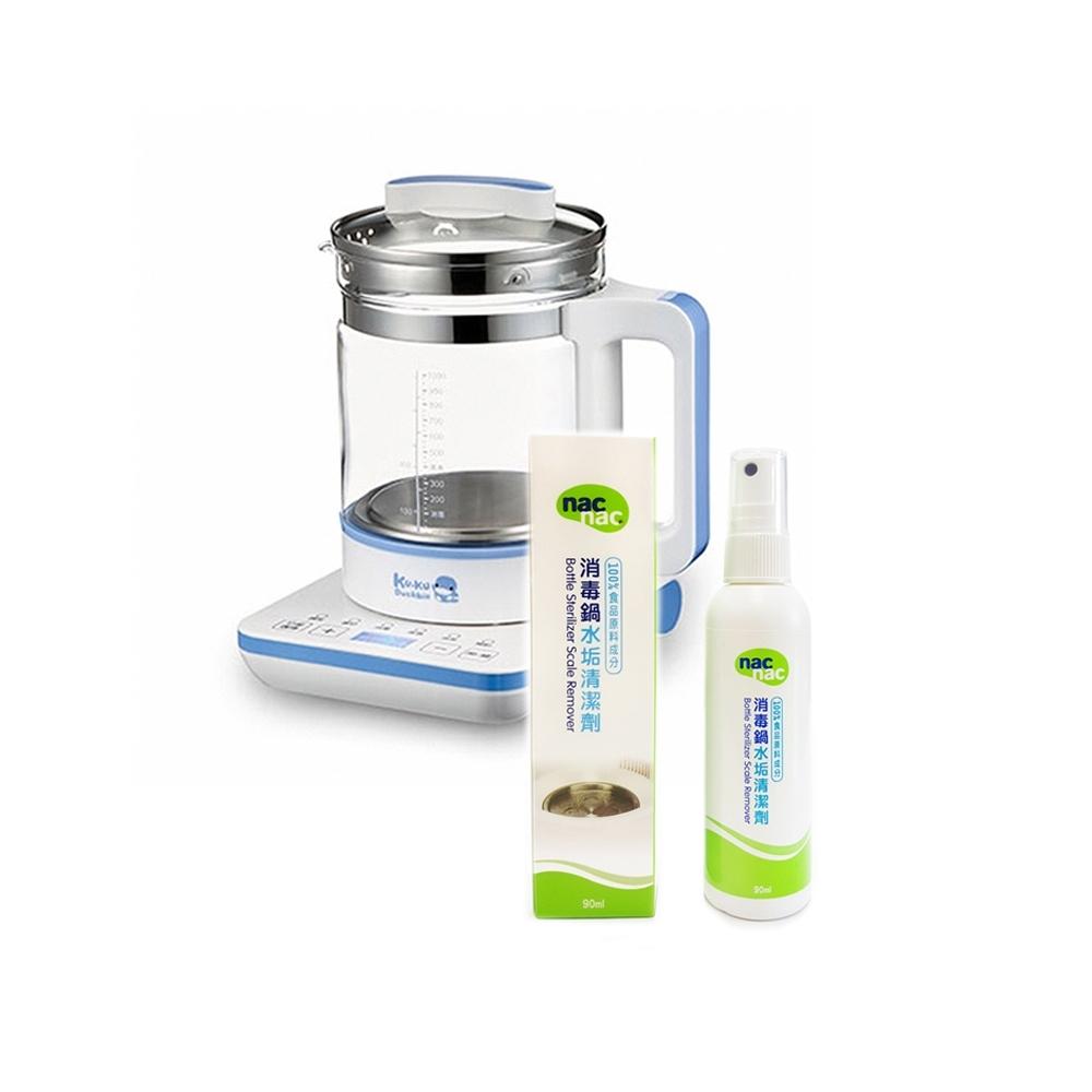 酷咕鴨KU.KU.六合一多功能恆溫調乳器(特價)+NAC NAC 消毒鍋水垢清潔劑*1