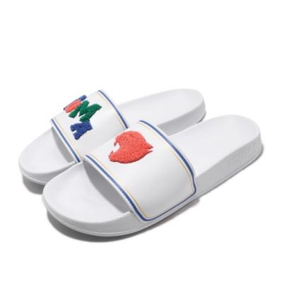 Puma 涼拖鞋 Leadcat FTR 套腳 男女鞋 輕便 簡約 大logo 夏日 情侶穿搭 白 藍 37262202