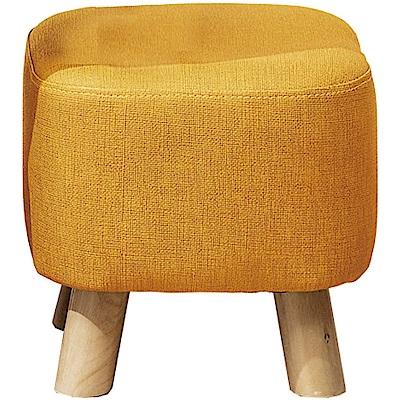 綠活居 布諾亞麻布紋皮革小椅凳/方凳(六色)-30x30x30cm免組