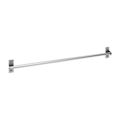 百轉空間 (加贈不鏽鋼掛鉤)不鏽鋼120CM免釘打孔可兩用壁桿(1入)
