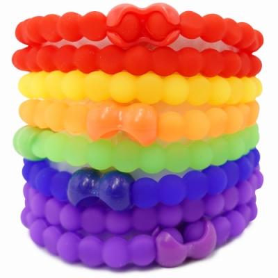 Pro Hair Tie 扣環髮圈8件組-彩虹派對