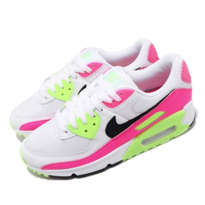 Nike 休閒鞋 Air Max 90 運動 女鞋 經典款 氣墊 避震 舒適 球鞋 穿搭 白 粉 CT1030100