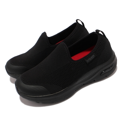 Skechers 休閒鞋 Arch Fit SR Absidy 女鞋 耐油 防滑 專利緩震鞋墊 支撐 舒適 黑 108022-BLK