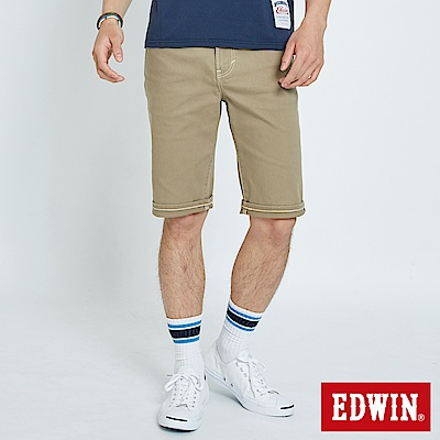 EDWIN 503休閒基本五袋短色褲-男-褐色