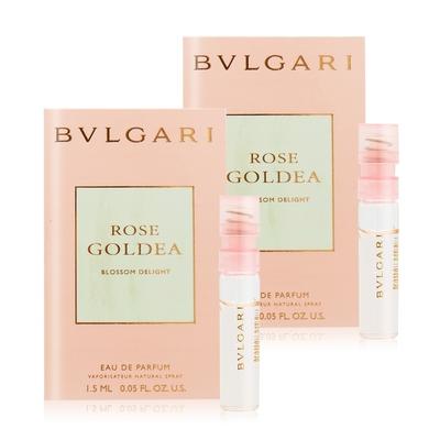 BVLGARI 寶格麗 歡沁玫香女性淡香精 Rose Goldea Blossom Delight 1.5mlX2 EDP-香水公司貨