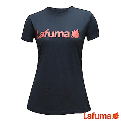 LAFUMA-女CORPORATE 短袖排汗衣-LFV115506730-深藍