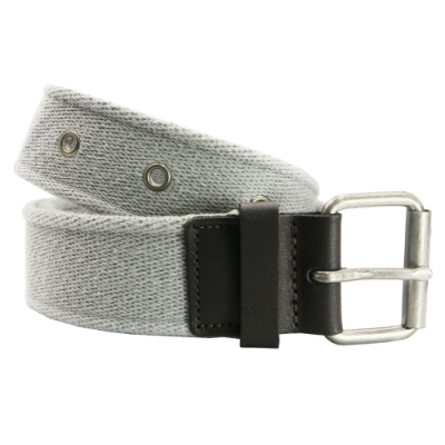 CH-BELT金屬鉚釘特色純棉織帶腰帶皮帶(灰)