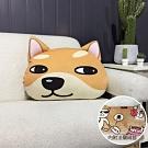 BUNNY LIFE 柴犬短毛絨抱枕(內附法蘭絨毯)抱枕毯車用毯