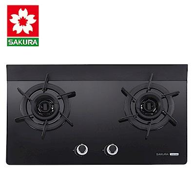 櫻花牌 G2922AG 創新雙炫火強化玻璃檯面式雙口瓦斯爐(天然)