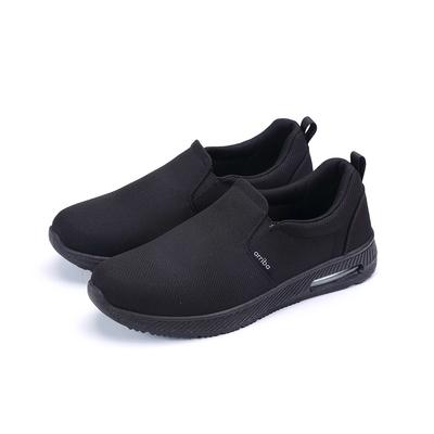 ARRIBA艾樂跑男鞋-素色布面懶人鞋-全黑(FA560)