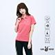 【遊遍天下】女款抗UV吸濕排汗機能格紋POLO衫GS1016玫粉 product thumbnail 2