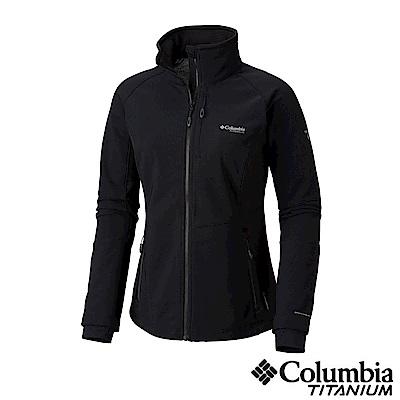 Columbia哥倫比亞 女款-Omni-Shie 防潑保暖軟殻外套-黑色