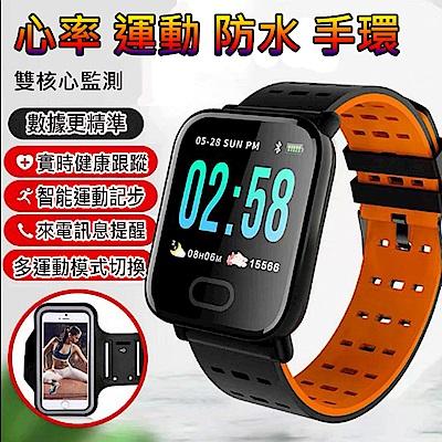 美國熊 彩色大屏幕 大字體 心率 計步運動模式智慧手環 手錶