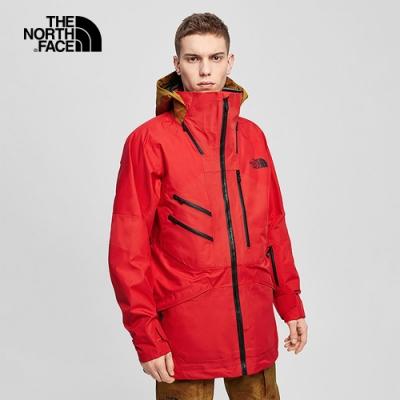 The North Face北面男款紅棕色防水透氣衝鋒衣|4QXPTBV