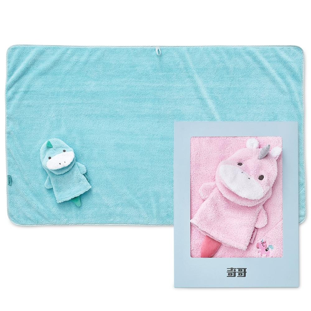 奇哥 吸濕速乾沐浴禮盒-浴巾+沐浴手套(2色選擇)
