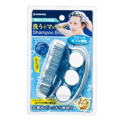 日本綠鐘GT/SE美髮按摩機能洗頭梳-GT-500/SE-026-4入(隨機出貨)