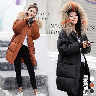 【韓國K.W.】極致輕量保暖羽绒中長外套(三色可選)