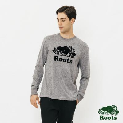 ROOTS 男裝-庫柏海狸長袖T恤-灰