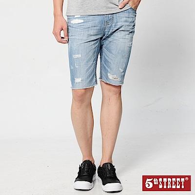 5th STREET 1965夏日輕磅 牛仔短褲-男-漂淺藍
