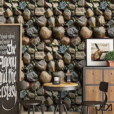 佶之屋 DIY立體3D仿真石紋木紋自黏壁貼 45x300cm-仿真石